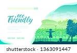 ecology friendly farm vector...