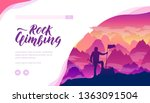 rock climbing vector landing... | Shutterstock .eps vector #1363091504