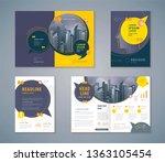 cover book design set  speech... | Shutterstock .eps vector #1363105454