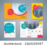 cover book design set  colorful ... | Shutterstock .eps vector #1363105457