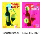 idea for wine event.... | Shutterstock .eps vector #1363117607