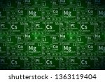 chemical elements table on...   Shutterstock .eps vector #1363119404