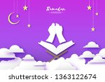 ramadan kareem greeting card... | Shutterstock .eps vector #1363122674