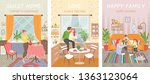 people at home vector  woman in ... | Shutterstock .eps vector #1363123064
