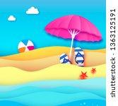 pink parasol   umbrella in... | Shutterstock . vector #1363125191
