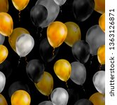 a lot of luxury balloons in... | Shutterstock .eps vector #1363126871