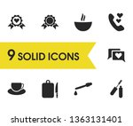 lifestyle icons set with coffee ...