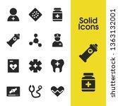 medical icons set with bandage  ...