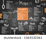restaurant menu templated with... | Shutterstock .eps vector #1363132361