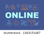 online word concepts banner.... | Shutterstock .eps vector #1363151687