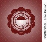 umbrella icon inside retro... | Shutterstock .eps vector #1363153364