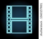 film strip neon icon. simple...