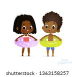 afro american girl and boy in...   Shutterstock .eps vector #1363158257