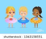 children summer time on... | Shutterstock .eps vector #1363158551