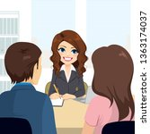 professional lawyer woman... | Shutterstock .eps vector #1363174037