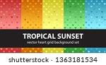 heart pattern set tropical... | Shutterstock .eps vector #1363181534