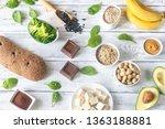 assortment of magnesium rich... | Shutterstock . vector #1363188881