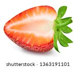 strawberries isolated on white... | Shutterstock . vector #1363191101