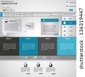 stylish website template ...   Shutterstock .eps vector #136319447