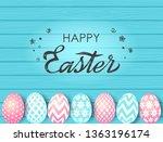 greeting easter card or banner. ... | Shutterstock .eps vector #1363196174