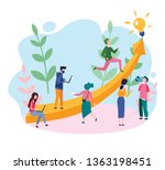 people run to their goal   the... | Shutterstock .eps vector #1363198451