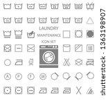 international laundry washing... | Shutterstock . vector #1363198907