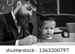 homeschooling concept.... | Shutterstock . vector #1363200797