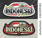 logo for indonesia country ... | Shutterstock . vector #1363209281