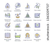 relaxation techniques icons  ... | Shutterstock .eps vector #1363209737