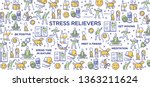 stress relievers conceptual... | Shutterstock .eps vector #1363211624