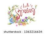 spring sale advertising text... | Shutterstock . vector #1363216634