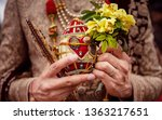 indian groom holding baraat... | Shutterstock . vector #1363217651