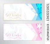 gift certificate  voucher  gift ... | Shutterstock .eps vector #1363221821