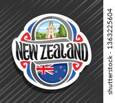 logo for new zealand country ... | Shutterstock . vector #1363225604