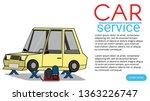 mechanical repair under car... | Shutterstock .eps vector #1363226747