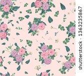seamless flowering bright... | Shutterstock .eps vector #1363235867