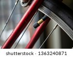 bike tire valve inflate steam... | Shutterstock . vector #1363240871