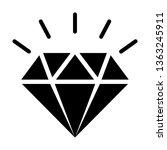 diamond gemstone with sparkle... | Shutterstock .eps vector #1363245911