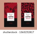 coffee illustration on label... | Shutterstock .eps vector #1363252817