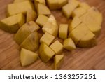 top down view angle of potatoes ... | Shutterstock . vector #1363257251