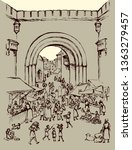 antique orient religious...   Shutterstock .eps vector #1363279457