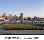 Baltimore Harbor And Skyline  Md