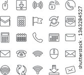 thin line icon set   mail...