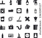 solid vector icon set   pipes...   Shutterstock .eps vector #1363285127