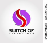 3d technology logo design ... | Shutterstock .eps vector #1363290557
