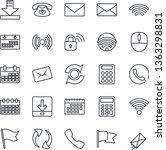 thin line icon set   mail...
