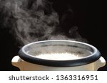 selective focus hot cooked rice ... | Shutterstock . vector #1363316951