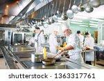 modern kitchen. the chefs... | Shutterstock . vector #1363317761