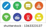 antenna icon set. 8 filled... | Shutterstock .eps vector #1363323137