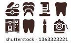 dentistry icon set. 8 filled... | Shutterstock .eps vector #1363323221